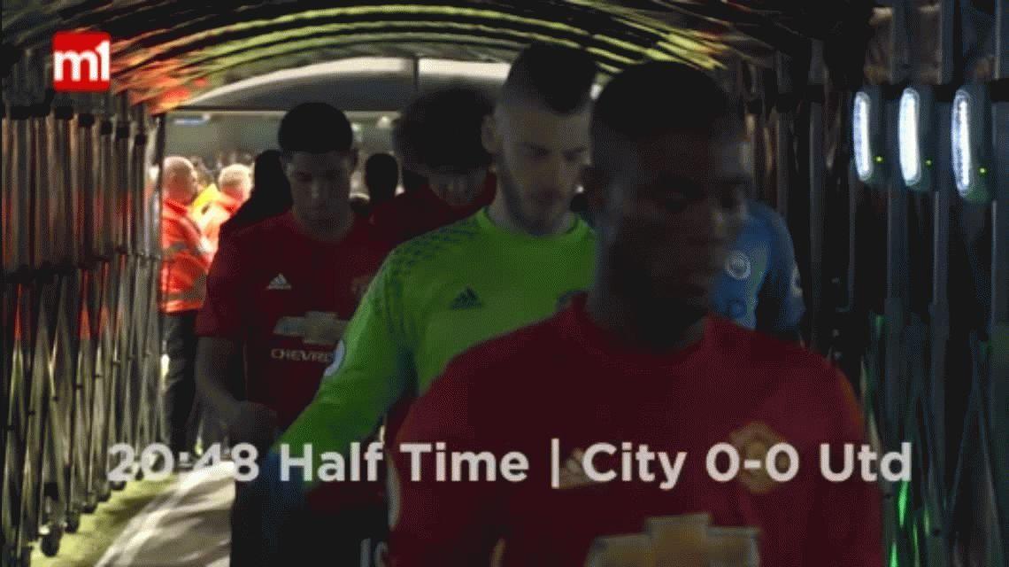 El picante cruce de Mourinho y el Kun Agüero en el clásico de Manchester