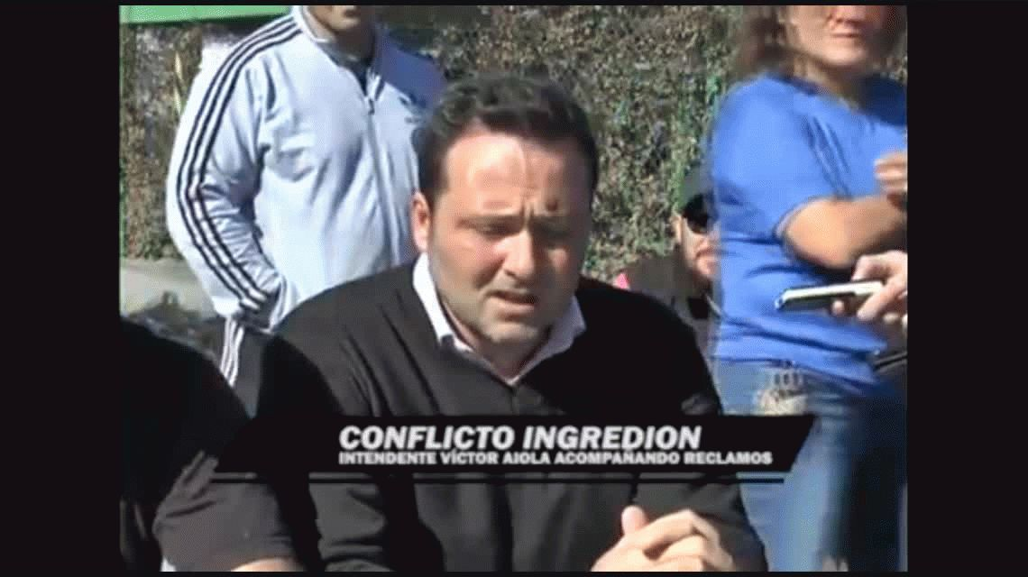 Un intendente apoyó el reclamo de trabajadores por despidos en una fábrica