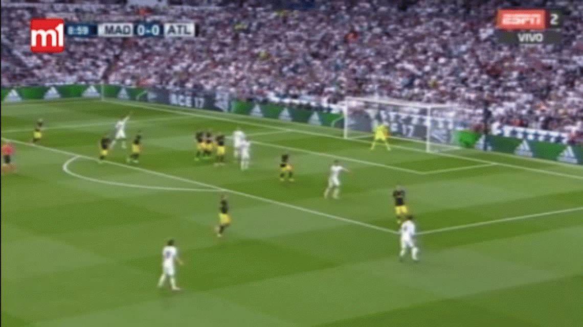 Con este gol de Cristiano Ronaldo, Real Madrid le gana al Atlético