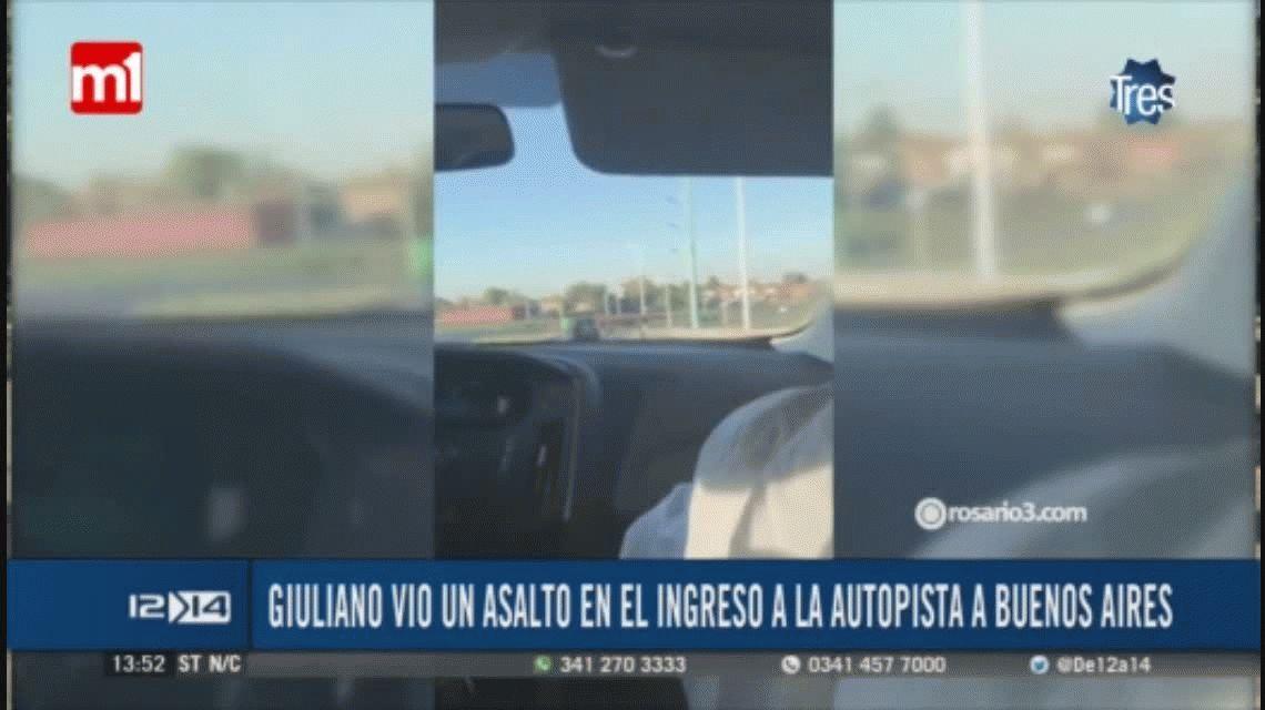 Un concejal grabó un robo en la autopista Rosario Buenos Aires