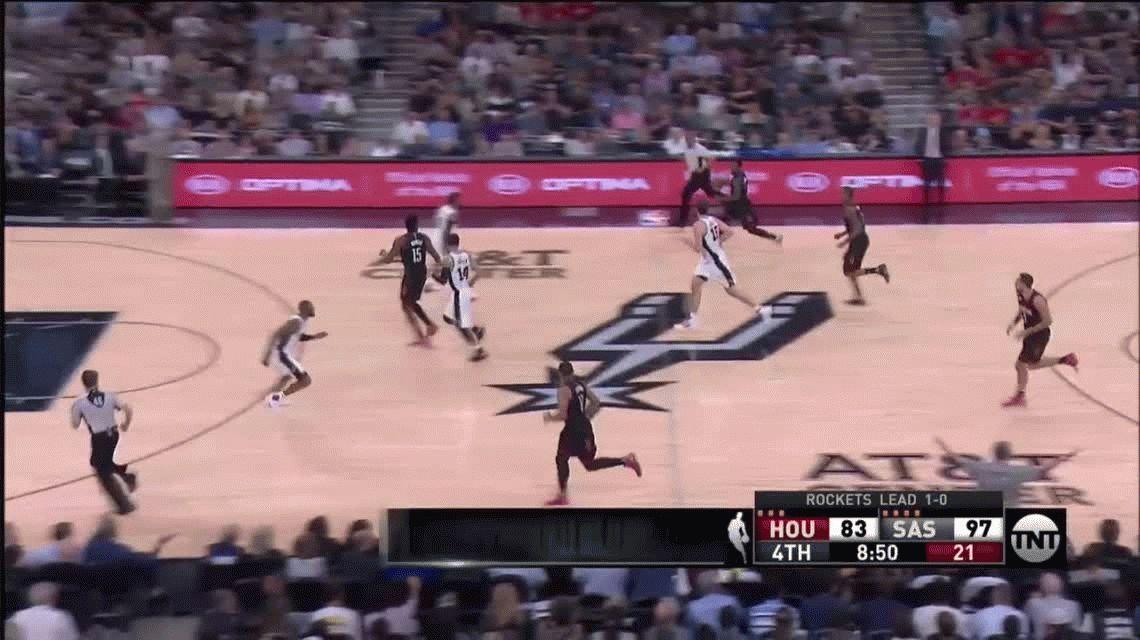 Con Ginóbili, los Spurs le ganaron a los Rockets pero perdieron a Parker