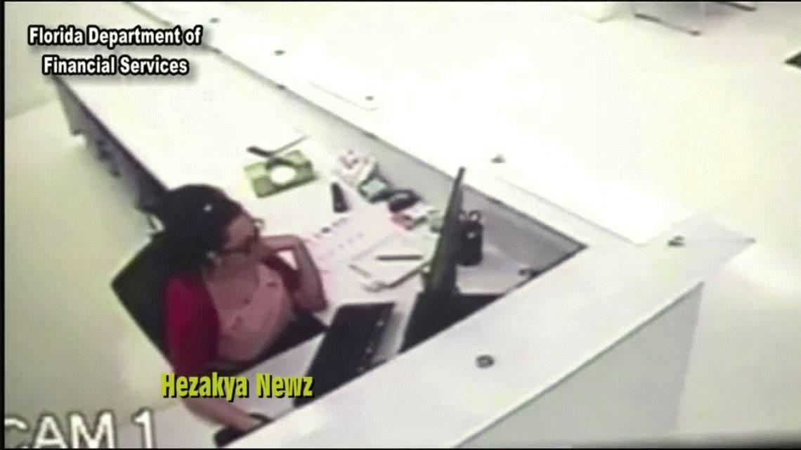 Una empleada simuló una lesión en su trabajo para cobrar el seguro