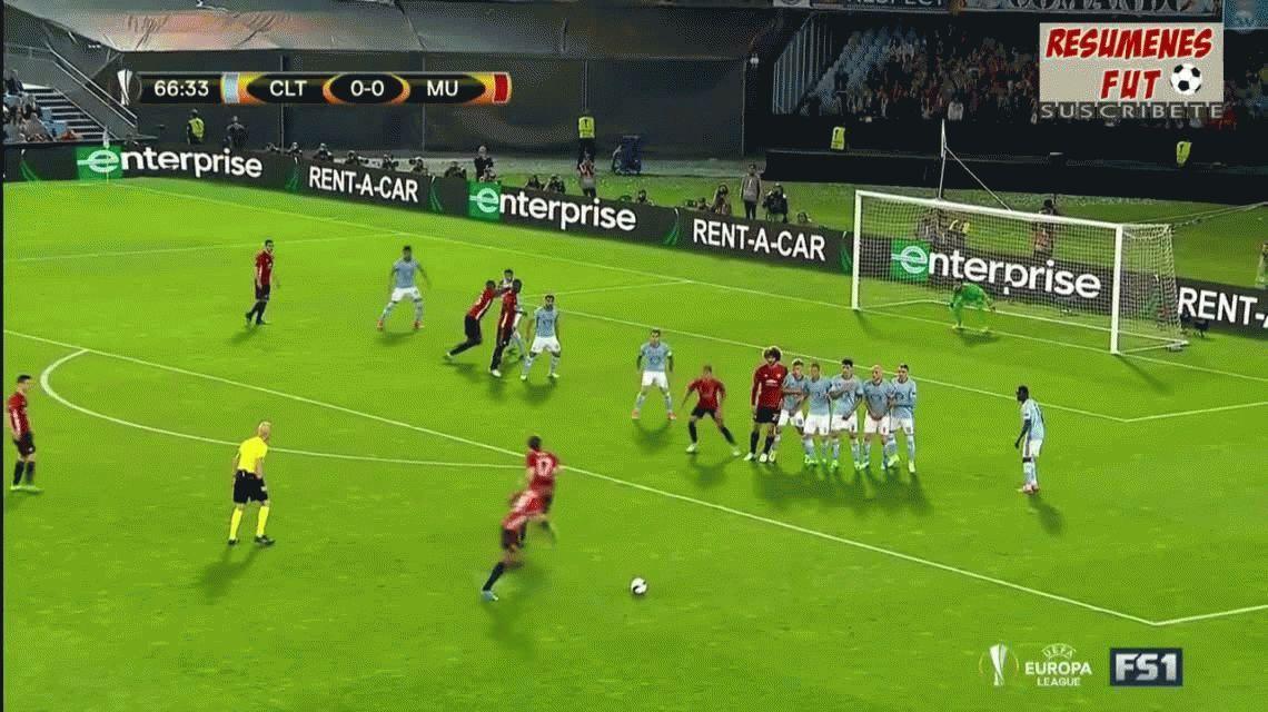 El Manchester United de Romero venció al Celta de Berizzo en la ida de la semi