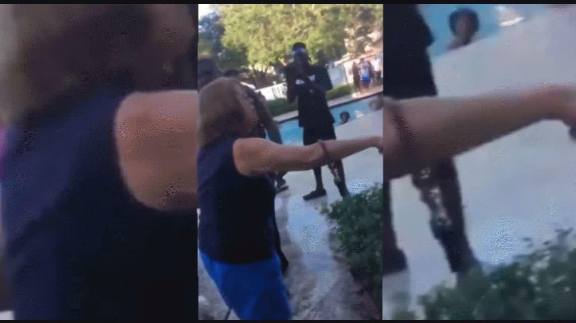 VIDEO: Les pidió que bajaran el volumen en una fiesta y la tiraron a una pileta