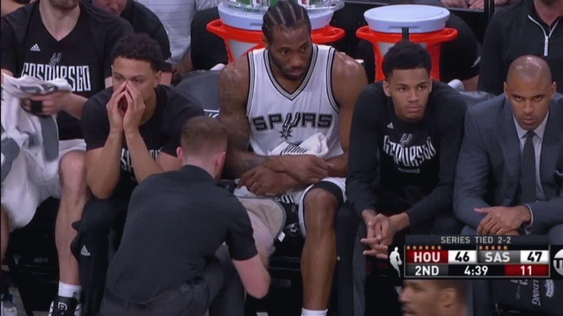 Emanuel Ginóbili  y una actuación histórica para San Antonio Spurs ante Houston Rockets
