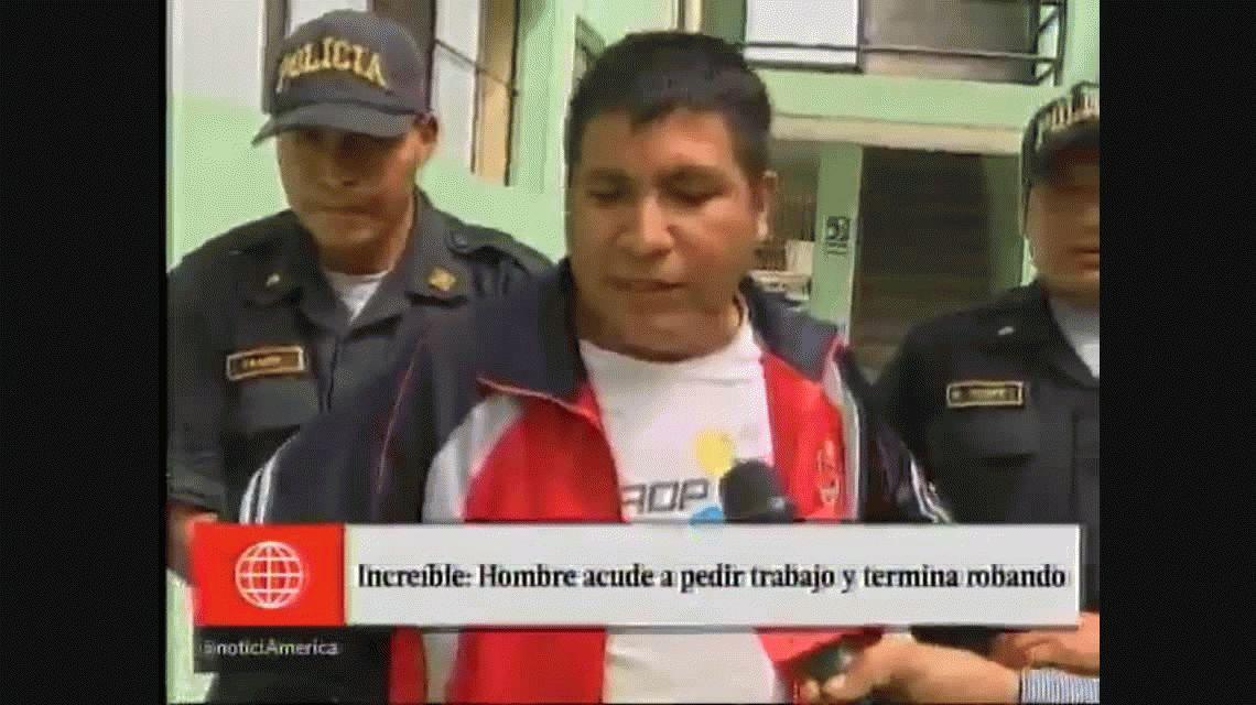 Perú: fue a buscar trabajo y se robó un celular en plena entrevista