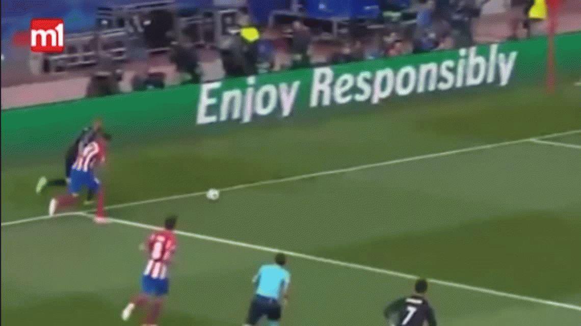 Así fue la increíble jugada de Benzema que salvó al Real Madrid ante Atlético