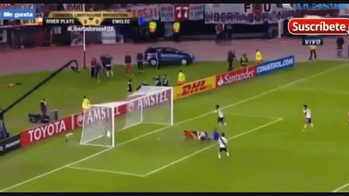 Con suplentes, River igualó ante Emelec y se metió en octavos de la Libertadores