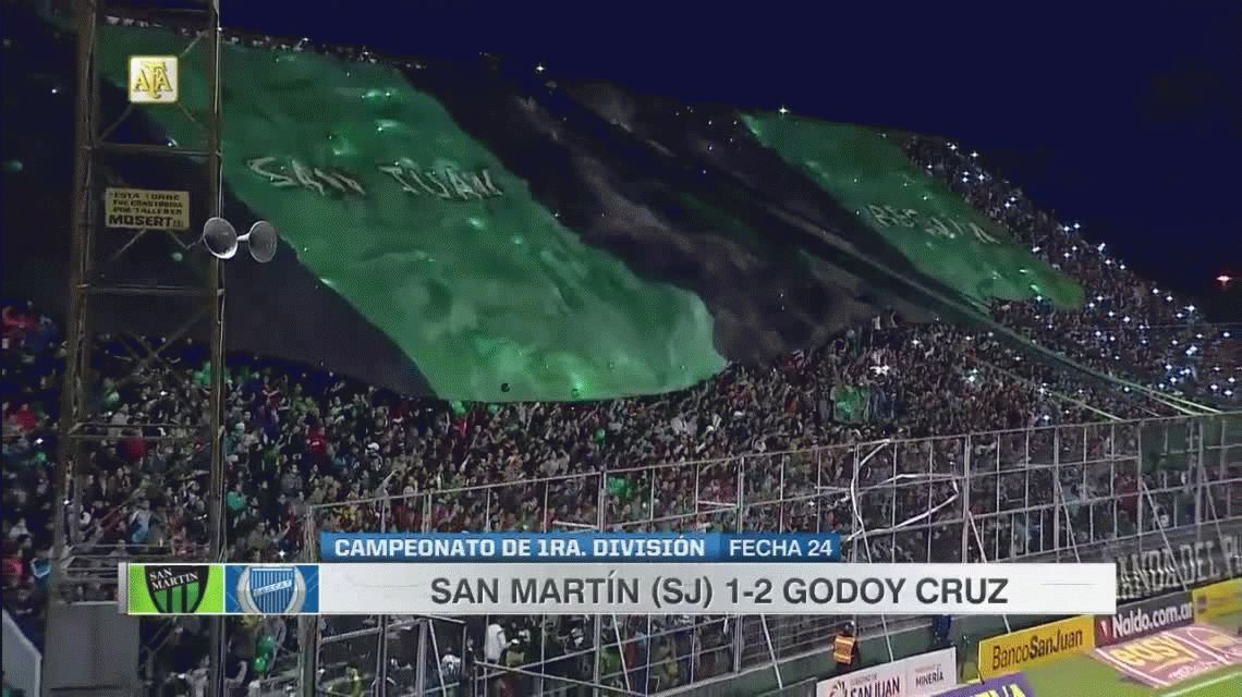 Con dos goles del Morro García, Godoy Cruz le ganó a San Martín en San Juan