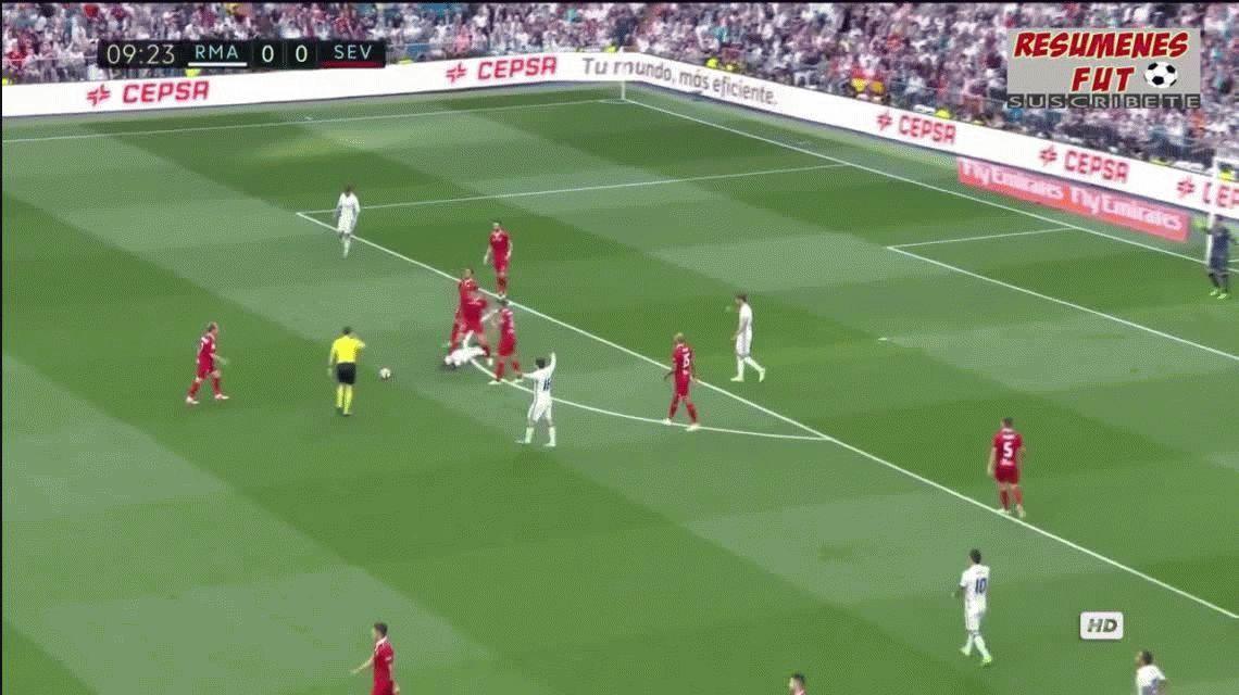 Real Madrid goleó al Sevilla de Sampaoli y acaricia el título en España