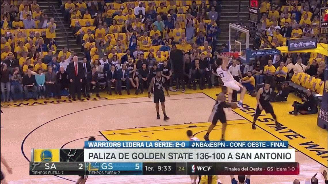 Ginóbili jugó muy poco y San Antonio Spurs perdió por paliza con Golden State Warriors