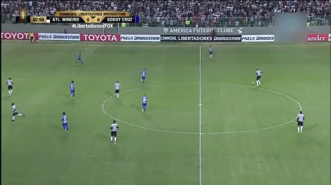 Godoy Cruz la pasó mal en Brasil y cayó goleado frente a Atlético Mineiro