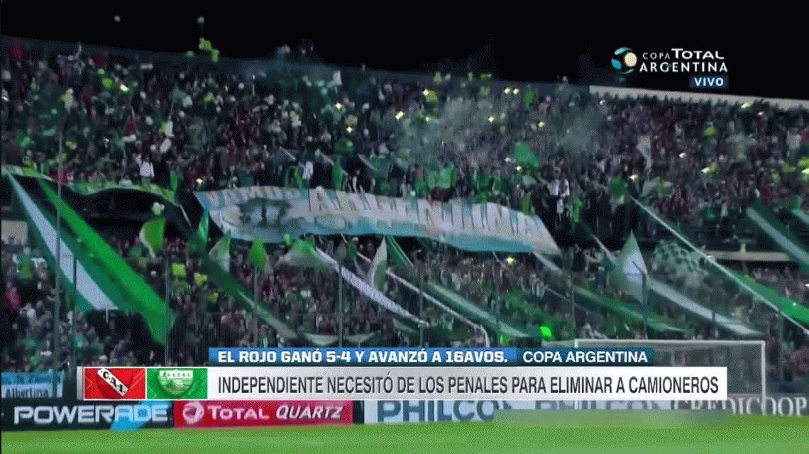 Independiente sufrió ante Camioneros y necesitó los penales para avanzar