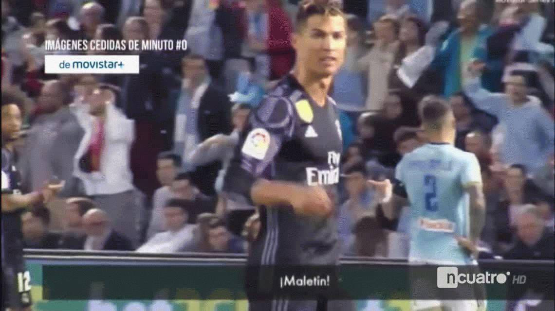 Cristiano Ronaldo a Gustavo Cabral: ¡Maletín! ¡Dinero!
