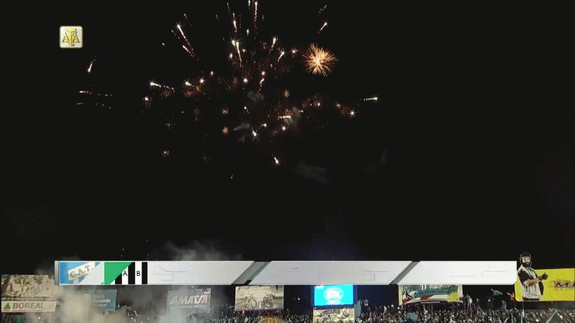 Atlético Tucumán goleó a un Banfield que venía entonado y prendido