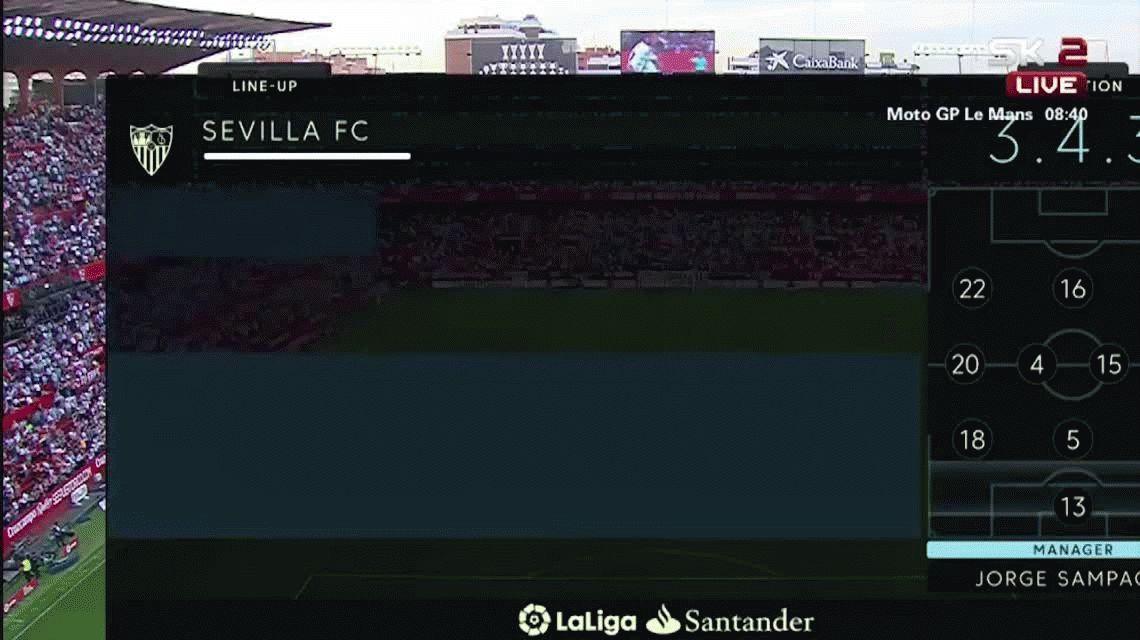 Con silbidos y una goleada, Sampaoli se despidió del Sevilla