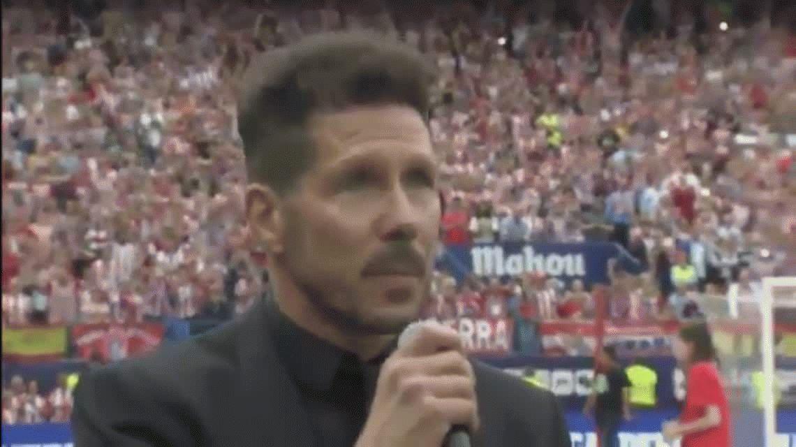 La frase de Diego Simeone que levantó la ovación de todos los hinchas: se queda en el Atlético Madrid