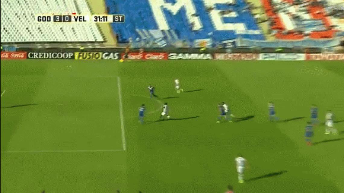 Godoy Cruz se aprovechó de un pésimo Vélez y lo goleó
