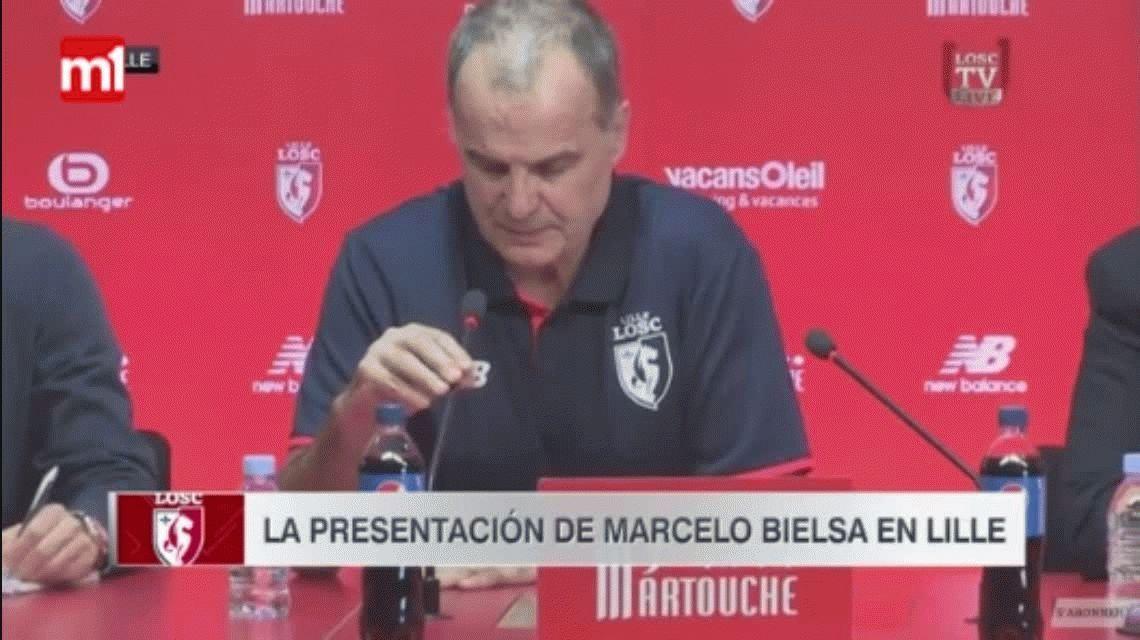 Marcelo Bielsa fue presentado en el Lille: Este club tiene mucho potencial