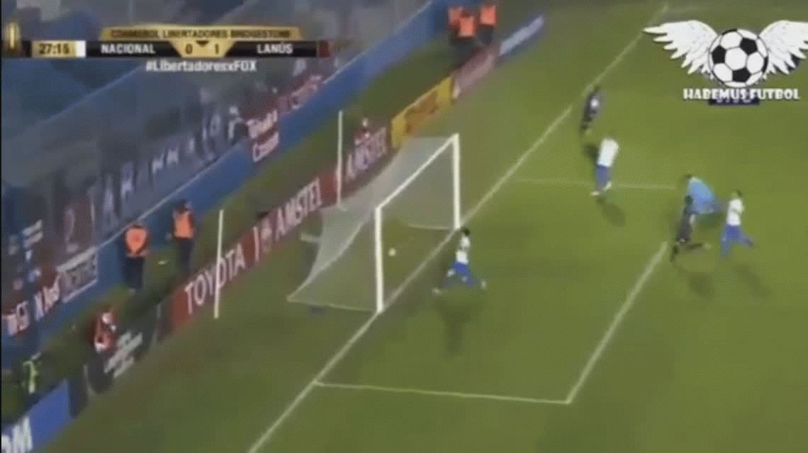 Lanús le ganó a Nacional en Uruguay y se aseguró el primer puesto del grupo