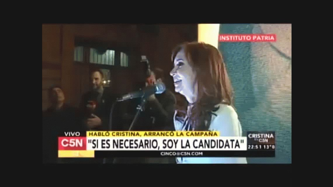 Después de la entrevista en C5N, militantes le pidieron a Cristina que sea candidata