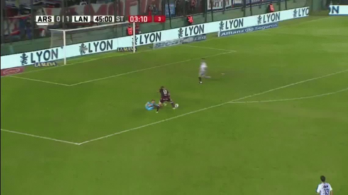 Arsenal cayó ante Lanús y se hunde en el fondo