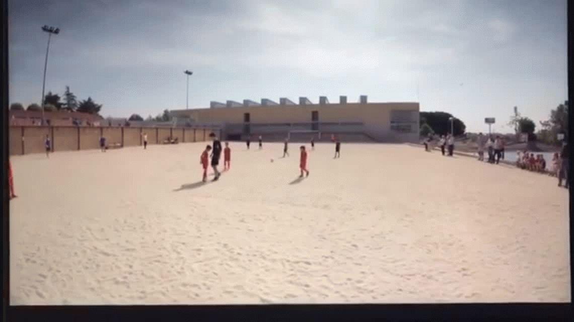 De tal palo: mirá lo que hizo el hijo de Cristiano Ronaldo en un partido infantil