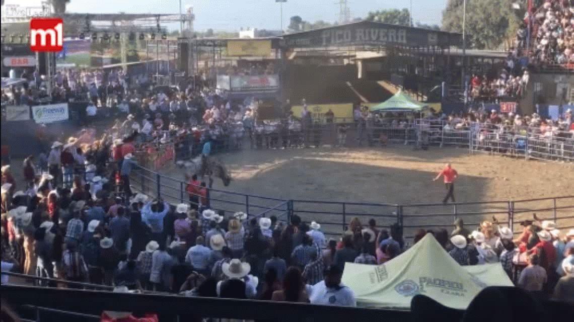 VIDEO: La brutal embestida de un toro que hizo volar a un hombre