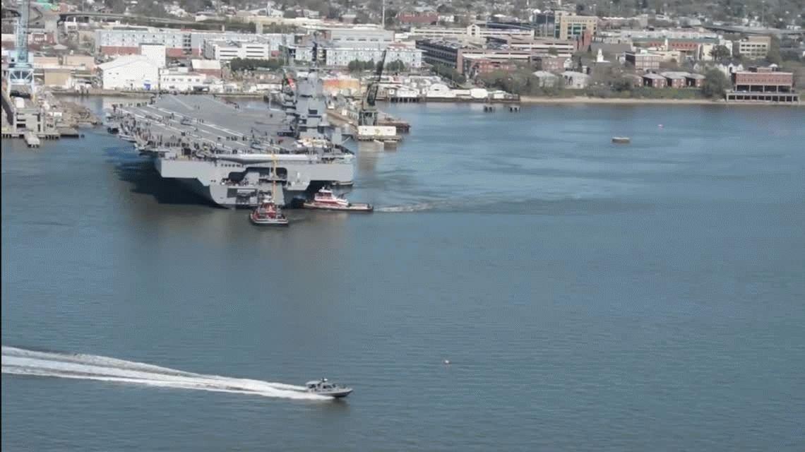 Mirá el nuevo portaaviones nuclear que incorporó Estados Unidos a su flota