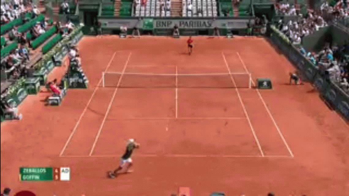 VIDEO: Así fue el golpe que dejó a Goffin afuera de Roland Garros