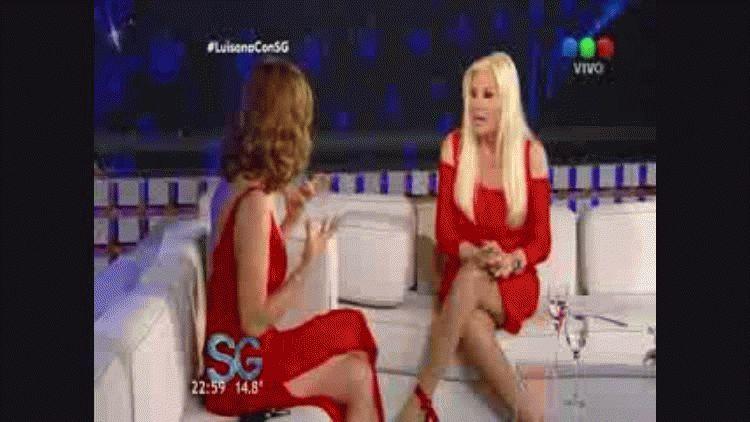 Luisana Lopilato en el living de Susana Gimenez