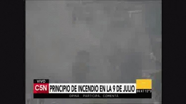 El incendio afecta la visibilidad en la zona