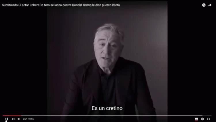 Robert De Niro enfurecido contra Donald Trump.