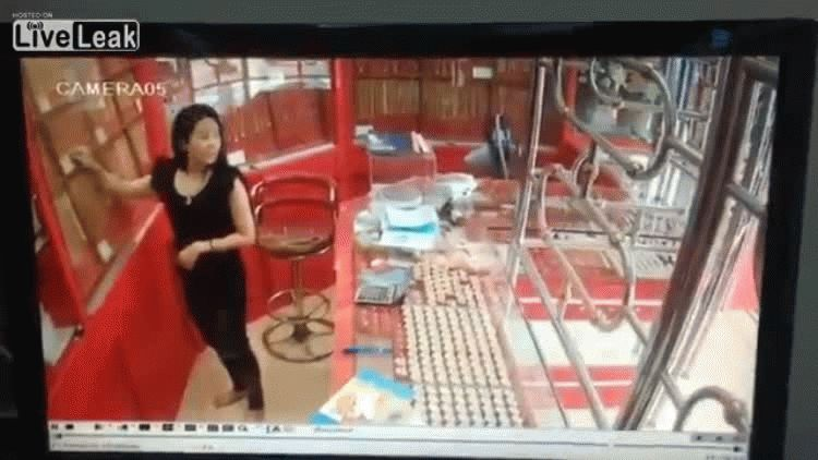 Quiso robar una joyería en Tailandia