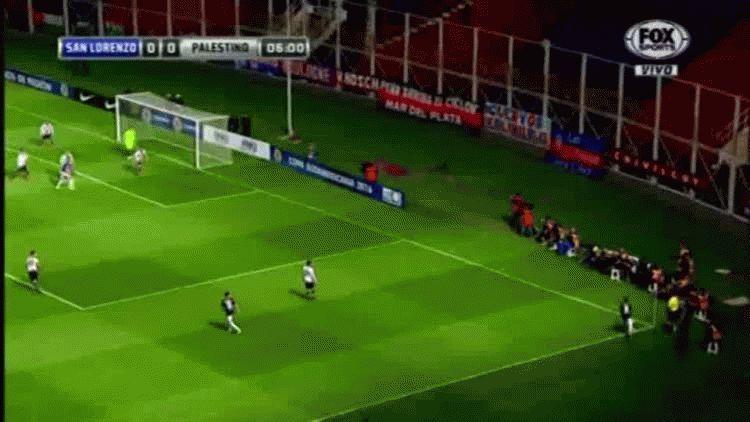 Martín Cauteruccio anotó el primer gol de San Lorenzo ante Palestino por la Copa Sudamericana