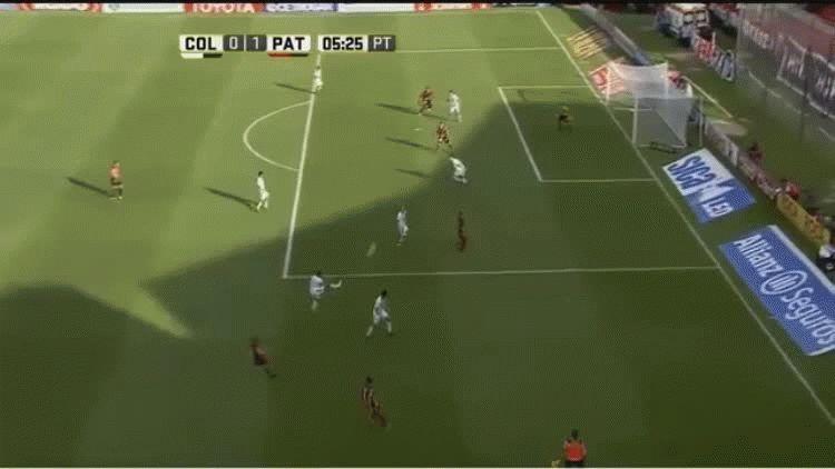 Fernando Telecha anotó el primer gol de Patronato ante Colón en Santa Fe