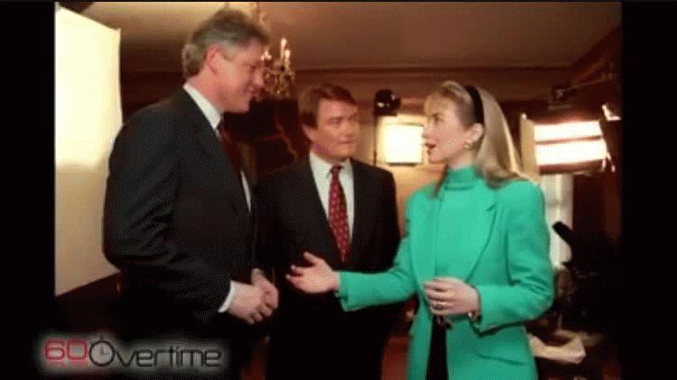 Hillary y Bill Clinton sufrieron un gran accidente durante una entrevista en el año 1992
