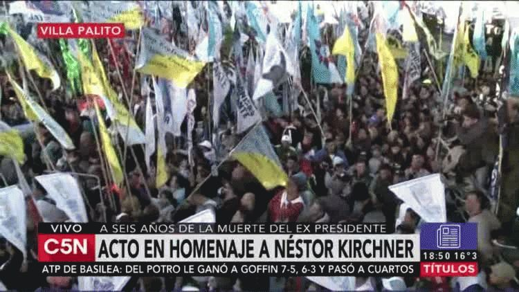 Máximo Kirchner encabezó el homenaje a Néstor Kirchner a seis años de su muerte