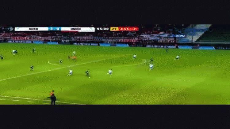 Lucas Alario anotó el tercero de River ante Unión por Copa Argentina