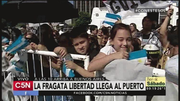 Después de casi seis meses llega al país la Fragata Libertad.