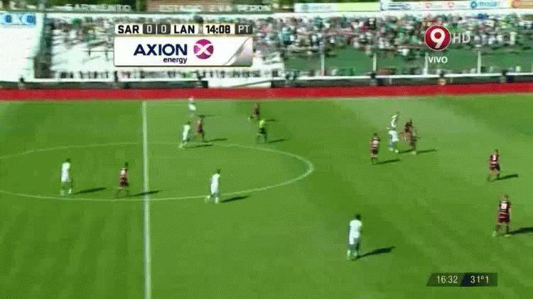 Fornari anotó el primer gol de Sarmiento ante Lanús