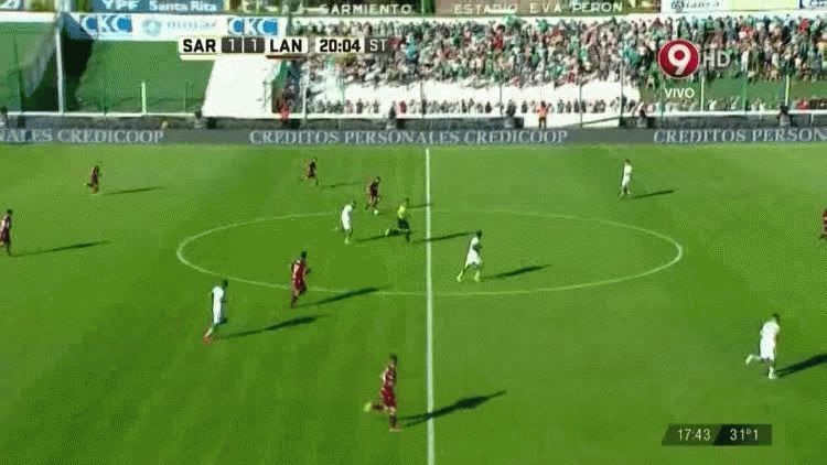 El gol de Lautaro Acosta para Lanús ante Sarmiento en Junín