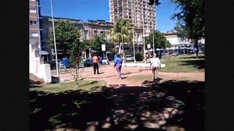 La gresca ocurrió en la plaza España de Santa Fe
