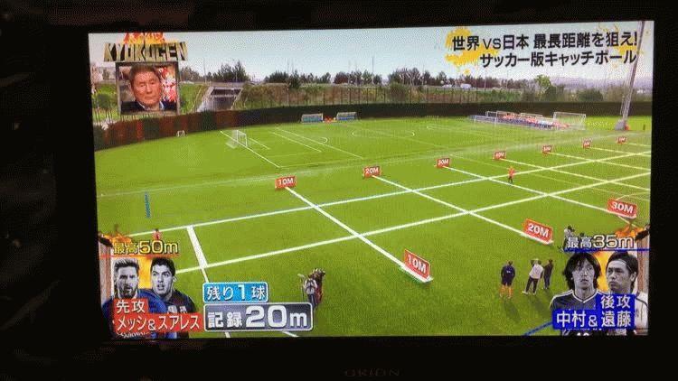 Lionel Messi y Luis Suárez en la TV japonesa