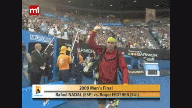 Federer y Nadal en la final del Abierto de Australia 2009