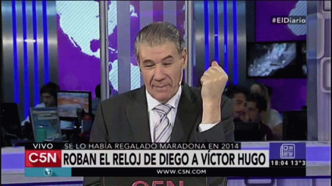Asaltaron a Víctor Hugo Morales: le robaron el reloj que le regaló Maradona