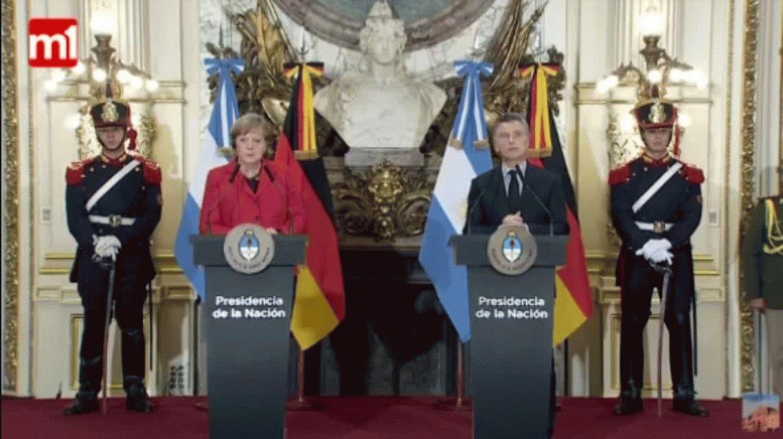 El chiste de Macri a Merkel, que la canciller alemana le retrucó