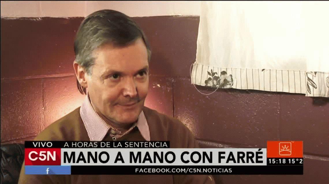 Fernando Farré habló tras la sentencia: Jamás le pegué a Claudia