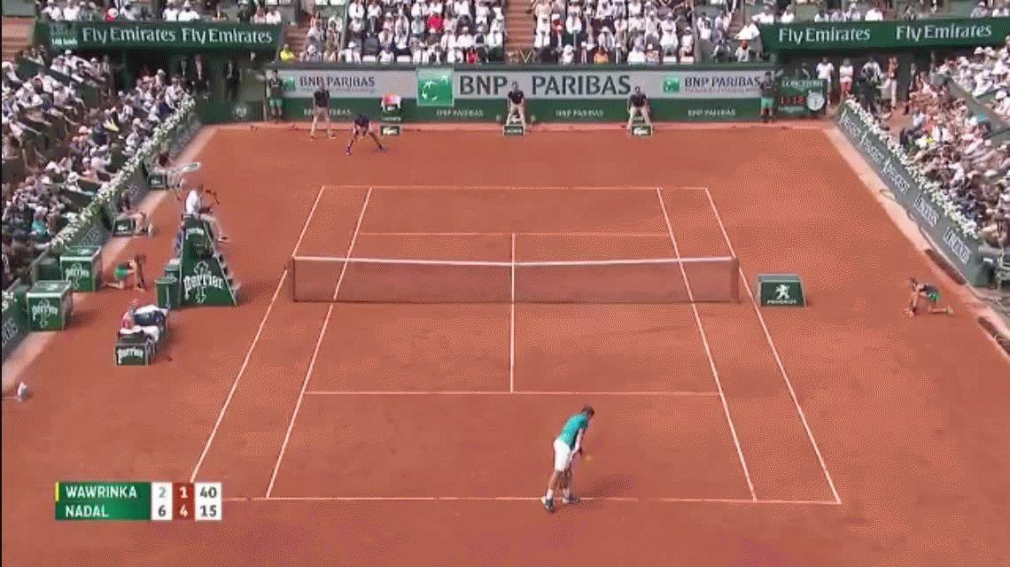 Roland Garros: este punto de Rafa Nadal hizo aplaudir a Wawrinka