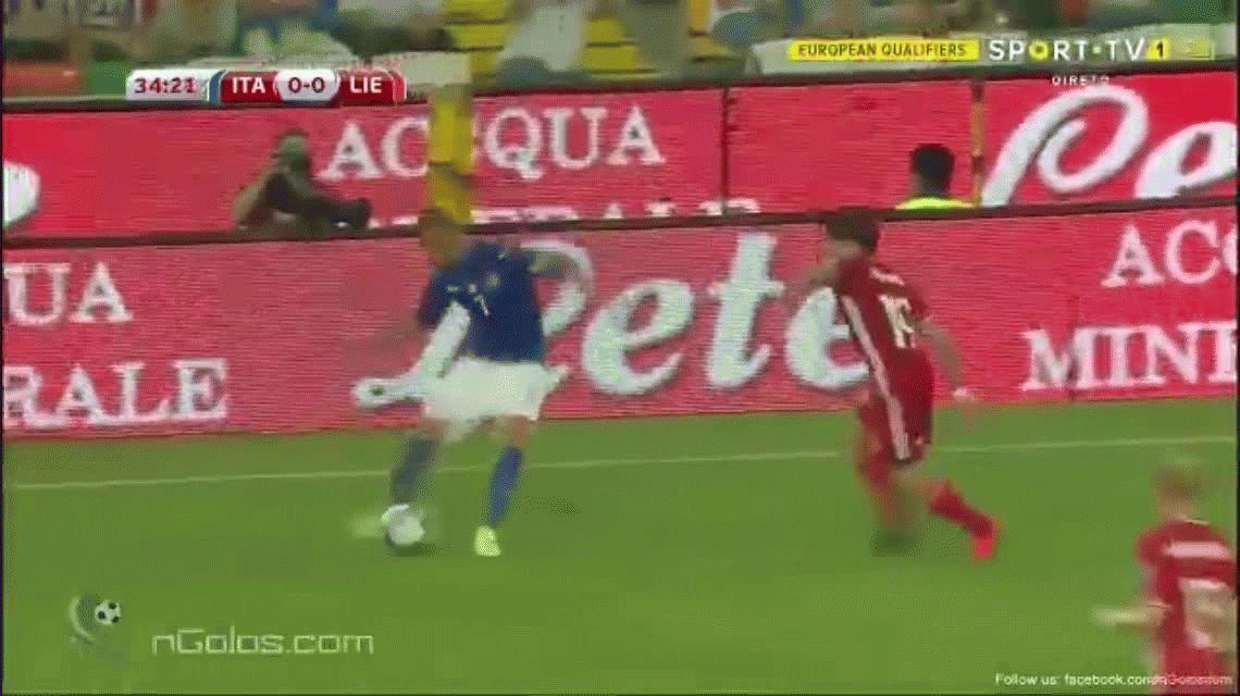 ¿Quién dijo que no había fútbol? Impresionante golazo de Italia ante Liechtenstein